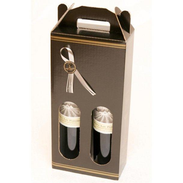 Sort Karton med 2 flasker Las Paredes