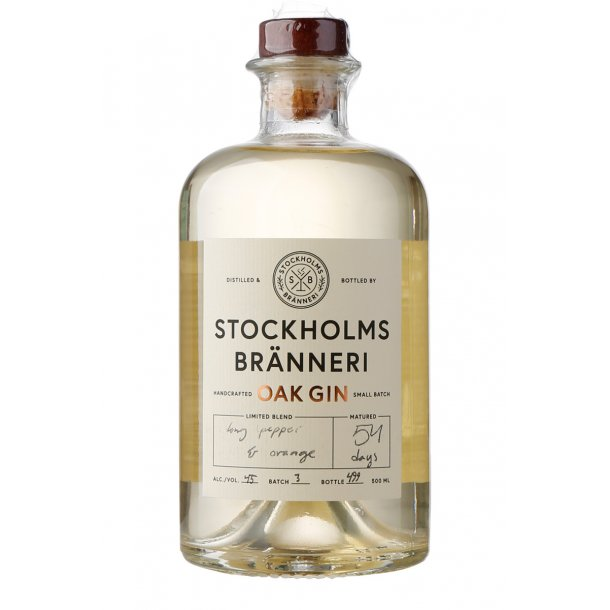 Stockholms Bränneri Oak Gin 45%,, 50cl
