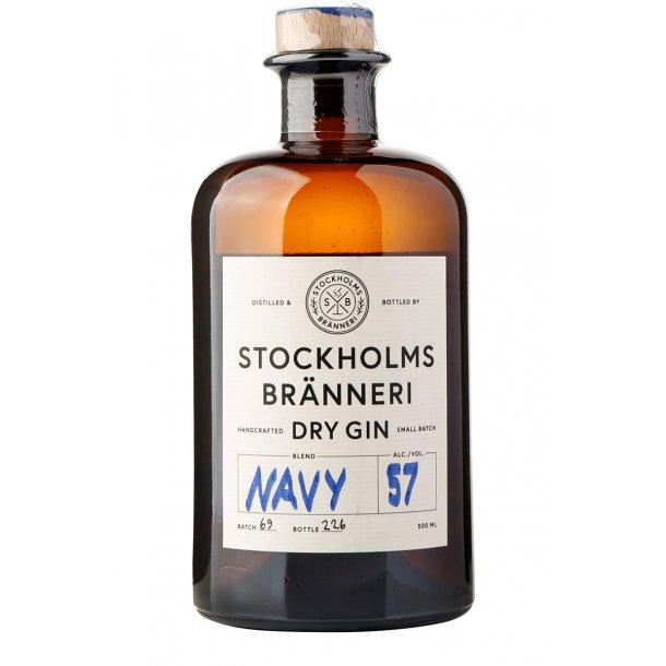 Stockholms Bränneri Navy Strenght Gin 57%, 50cl
