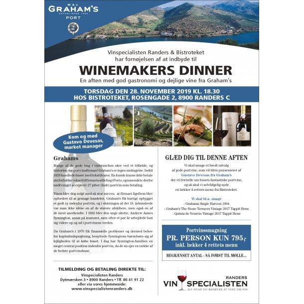 Winemakers Dinner med Graham's Port 28.11.2019